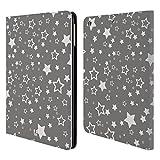 Head Case Designs Sterne Silber Urlaub Kollektion Brieftasche Handyhülle aus Leder für iPad Air (2013)