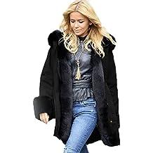 WintCO donna cappotto pumino pelliccia d'inverno caldo con cappuccio elegante