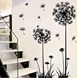 ZAZK Dandelion Home Décor Wall Sticker Paper Stickers For Living Room