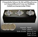 Metallständer mit 3 Dosen für Brennstoff, 0,5l, inkl. Keramik-Schwämme