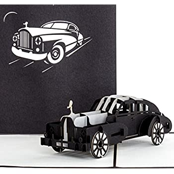 3d Pop Up Karte Rolls Royce Edle Autokarte Klappkarte Schwarz