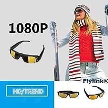 Flylinktech® HD 1920 * 1080 Spy Camera Occhiali da Sole 1080P DV DVR Macchina Fotografica Nascosta Eyewear DVR Sport Videocamera DVR Due Pulsanti