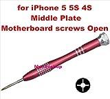 Pour iPhone 55S 4S Middle plate carte mère Vis ouvert Tournevis Cadre de plaque de cadre central Maintenance