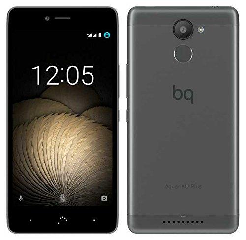 BQ Aquaris U plus Smartphone (12,7 cm (5 Zoll) Bluetooth, Qualcomm Snapdragon 430 Octa Core, 32 GB Speicher, 3 GB RAM, 16 MP Kamera, Multitouch, Android 6.0.1 Marshmallow), Schwarz und Anthrazit
