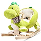 Merax Schaukeltier- Kinder und Baby Schaukelpferd, spezieller Schaukelstuhl für Kinder (Drache)