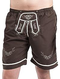 Trachten Badehose - Hopfen & Malz - Lederhose - Trachtenbadehose - Trachten Shorts - Badeshort