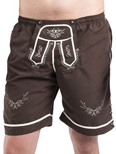Trachten Badehose - Hopfen & Malz - Lederhose - Trachtenbadehose - Trachten Shorts - Badeshort(XL)