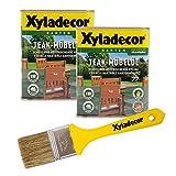 Xyladecor Teakmöbel-Öl, farbton teak, 1,5 l inkl Pinsel, Holz Pflegeöl für Möbel und Holz im Aussenbereich
