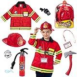 Born Toys 8 PC Premium Lavable Enfants Pompier Costume Jouet pour Enfants , garçons , Filles , Tout-Petits