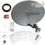 Satgear SK35 Mk4 - Antena parabólica mini para Sky/Freesat (Quad LNB, accesorios de montaje y cable gemelo de 20 m) [Importado de Reino Unido]