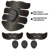 EEM Cintura Addominale elettrostimolatore Muscolare, Cintura elettrica massaggiatore, Gambe Addome/Braccio/Allenatore Muscolare Vita 10 Livelli di intensità
