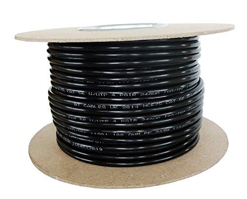 Multimedia Patch Panel (Strang Kabel CAT.5e OUTDOOR PE–Netzwerkkabel Ethernet Kupfer 100%–Farbe Schwarz (50m))