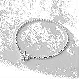925Sterling Silber Tiffany offener Stern Armband, in massiv Sterling Silber