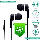#2: Zoyo In-Ear Headphone With Mic / Earphone With Mic Super Extra Bass - Black (Buy 1 Get 1 Free)