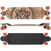 MAXOfit® Deluxe Longboard GeoLines Drop Down No.33, 104 cm, 9 stratti, ABEC11 - Azione Longboard Skateboard