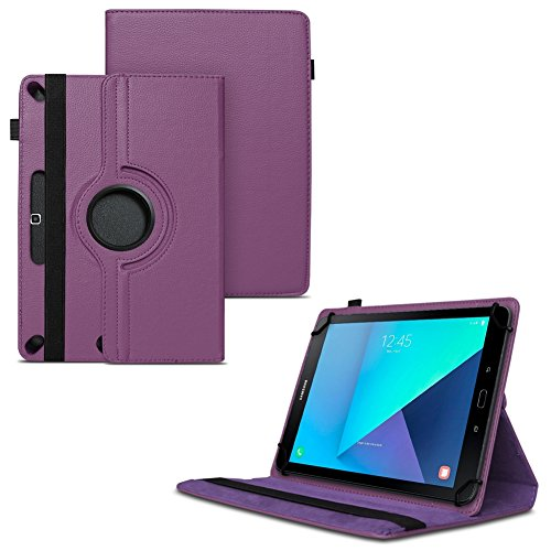 Samsung Galaxy Tab A6 10.1 2016 Tasche Hülle Tablet Cover Case Schutzhülle 360° , Farben:Lila (Lila Tablet)