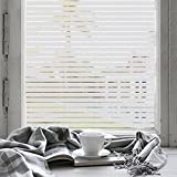 fancy-fix Selbstklebende Fensterfolie Milchglasfolie zur Dekoration und Sichtschutz für Büro Küche Vorhalle Wohnzimmer, Fensterschutzfolie 90cm x 400cm