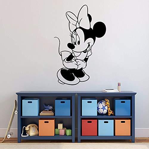 LLLYZZ Cartoon Charakter Wandaufkleber Nette Minnie Maus Wandtattoo Vinyl Cartoon Wandbild Kindergarten Dekor Mädchen Abziehbilder (Minnie Maus-kühlschrank)