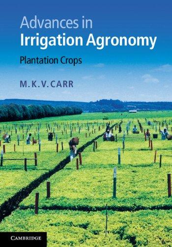 Advances in Irrigation Agronomy: Plantation Crops
