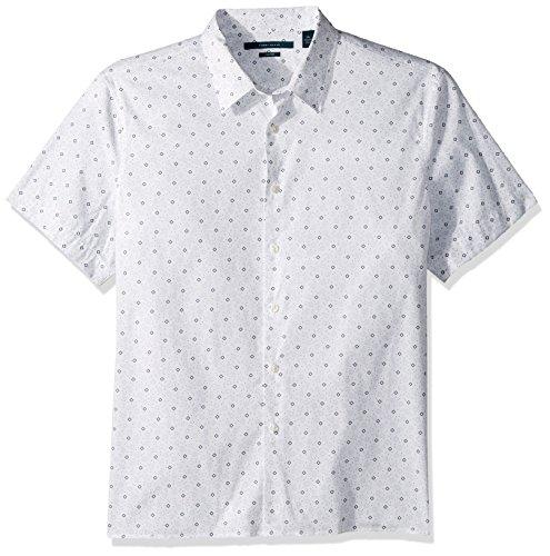 Perry Ellis herren Big & Tall Travel Luxe Geometric Print Shirt  Button Down Hemd  -  blau -  (Big Tall Ellis Perry)
