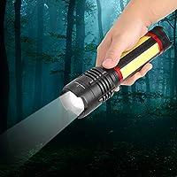 Gransun Linterna LED Recargable Potente Zoom telescópico Antorcha eléctrica para Acampar al Aire Libre Senderismo