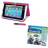 Vtech Storio - Lot d'une Tablette Storio 7 Max Rose et d'un Jeu HD La Reine des neiges