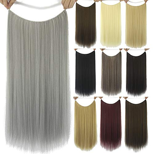 XIEWEICHAO Spot-synthetische Perücke Haarverlängerung Angelschnur Länge glattes Haar Perücke Stück Haarteil Haar Spur (Color : 18/613C)