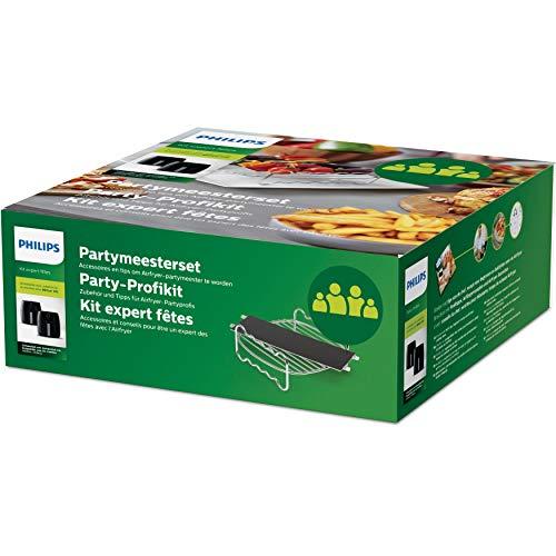 51KRWGRPo9L - Philips Party-Kit HD9950/00 Grillrost & Korbtrenner Zubehör, für Airfryer XXL (HD9860, HD9762, HD9750) mit 1,4 kg Fassungsvolumen