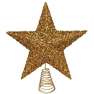 27cm oro hermoso brillante oropel Tree Top estrellas – del árbol de navidad