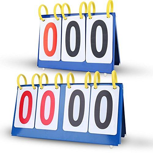 Scoreboard Anzeifetafel Wasserdichte 3/4 Ziffern für Fußball Volleyball Basketball(4-digit)