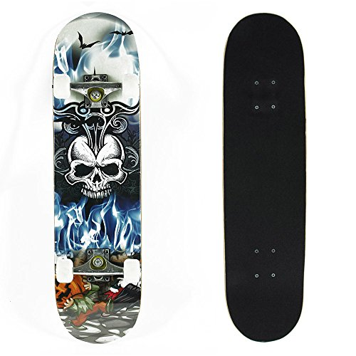 senmi-calavera-completo-estandar-arce-deck-tabla-de-skate-street-style-31-pulgadas-con-bolso-de-tabl