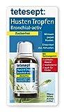 tetesept Husten Tropfen Bronchial-activ – Hustentropfen mit Spitzwegerich - erleichtert das Abhusten, wirkt schleimlösend & reizlindernd – 5 x 40 ml