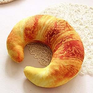 Nackenkissen von Remeehi Creative, U-Form, Überwurf, Plüschtier, baumwolle, Croissant, 30 cm