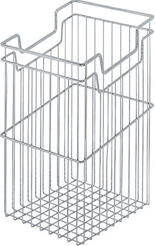 Gedotec Gitterkorb Wäschekorb Chrom mit Einhänge-Funktion für Unter-Schränke   Metall Wäsche-Sammler 39 Liter für Korpus-Bereite: 450 mm   MADE IN GERMANY   1 Stück - Wäsche-Korb für Aufbewahrung