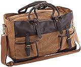 Xcase Weekender: Canvas-Reisetasche mit 2 Außentaschen und Schultergurt, 30 Liter (Boardcase)