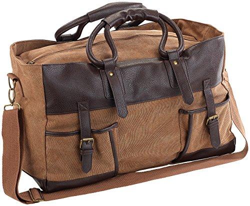 Preisvergleich Produktbild Xcase Vintage Reisetasche: Canvas-Reisetasche mit 2 Außentaschen und Schultergurt,  30 Liter (Canvas Handgepäck-Reisetasche)