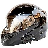 SSCJ Motorradhelme Bluetooth-Lautsprecher, integrierter modularer Flip-up-Doppelvisier-Integralhelm...