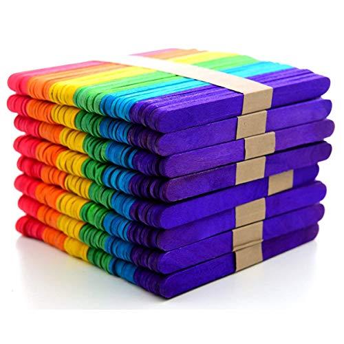 Regenbogen Farbe Holz Handwerk Popsicle St?cke Für DIY Kunst Handwerk 11,4 cm ()