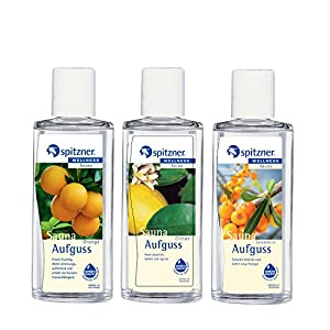 Spitzner Saunaaufguss Vitamin C: Sanddorn, Orange und Citrus (3x190ml)
