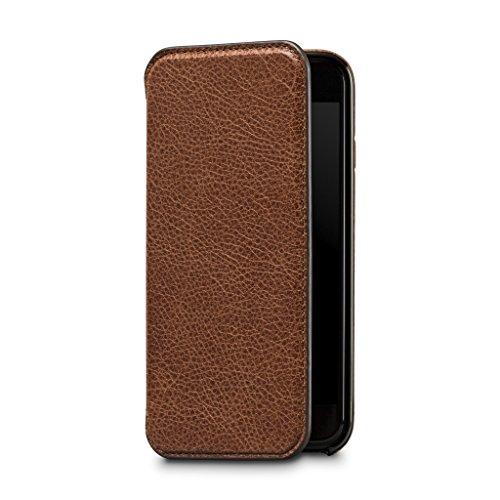 Sena Ultra Thin Wallet Book Schutzhülle für Apple iPhone 7-cognac-parent Sena Iphone Flip Case