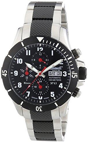 Ingersoll Herren-Armbanduhr XL Chronograph Automatik Edelstahl beschichtet IN1408BKMB