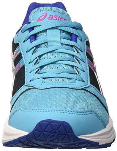 Asics Damen Patriot 8 Laufschuhe Mehrfarbig (Aquarium/Sport Pink/Deep Blue)