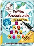 Knifflige Knobelspiele für schlaue Kids: 50 Karten mit abwischbarem Stift