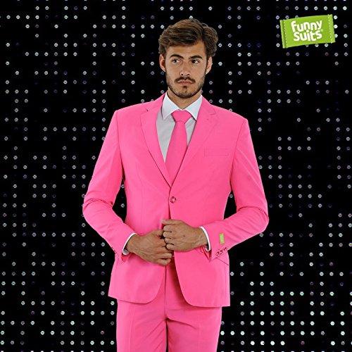 Clown Deluxe Kostüm Anzug - Funnysuits Pinker Anzug Flamingogo 3-Teiliger Anzug Kostüm Deluxe EU Size 50