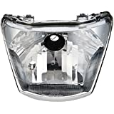 UNO MINDA HL-5205M Headlight Assembly with Dust Cap for Hero Passion Plus