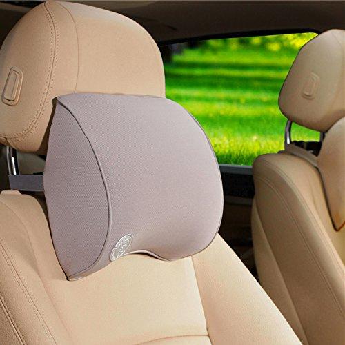 HCMAX Auto-Nackenkissen Fahren komfortabel weich Gedächtnisschaum Auto-Sitz-Kopfstütze Schützen Sie Hals und Wirbel Fit Reise/Büro / Zuhause/Auto -