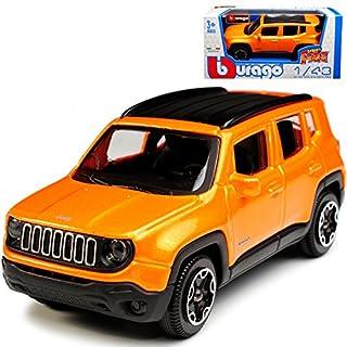 alles-meine.de GmbH Jeep Renegade SUV Orange Ab 2014 1/43 Bburago Modell Auto