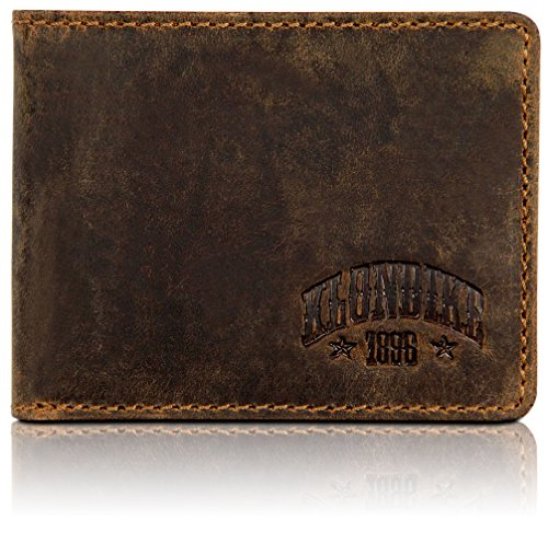 Klondike 1896 Mini cartera de cuero auténtico 'Noah' en formato horiz