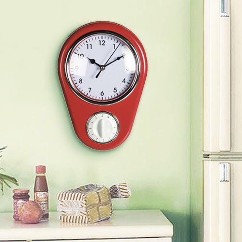 Planetareloj - Reloj de Pared Vintage con Temporizador