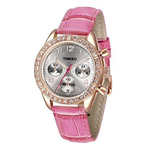 time100-womens-fashion-luxury-sport-casual-cystal-big-face-three-subdial-dial-multifunction-hot-pink